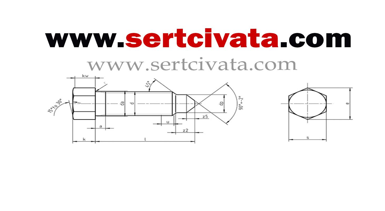 DIN564_form_B_konik_uclu_Civata_imalat
